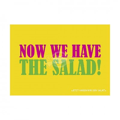 "Postkarte Forbetter Your English ""Now we have the salad"""