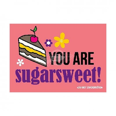 "Postkarte Forbetter Your English ""You are sugarsweet"""