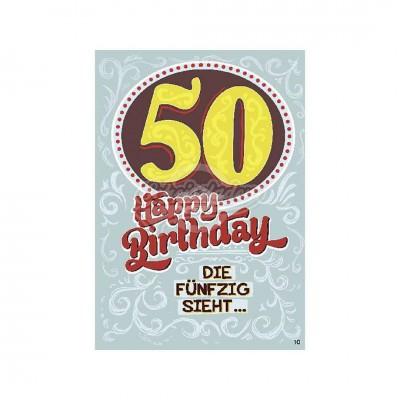 """Musikkarten mit Überraschung """"50 - Happy Birthday"""""""