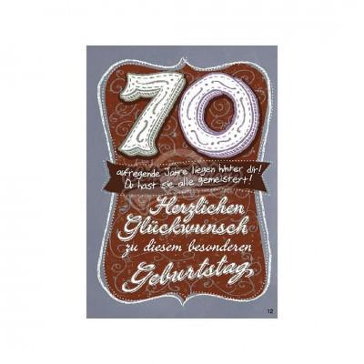 """Musikkarten mit Überraschung """"70 aufregende Jahre"""""""
