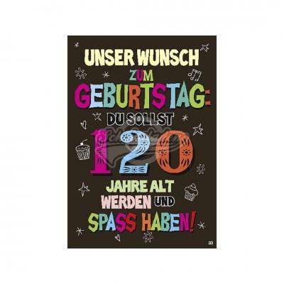 """Musikkarten mit Überraschung """"120"""""""