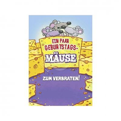 """Musikkarten mit Überraschung """"Geburtstagsmäuse zum Verbraten"""""""