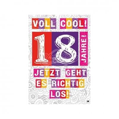 """Musikkarten mit Überraschung """"Voll cool - 18"""""""