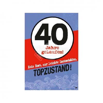 """Musikkarten mit Überraschung """"40 Jahre gelaufen - Topzustand"""""""