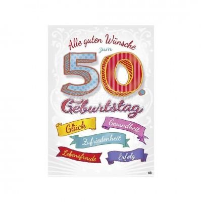"""Musikkarten mit Überraschung """"Alle guten Wünsche zum 50. Geburtstag"""""""