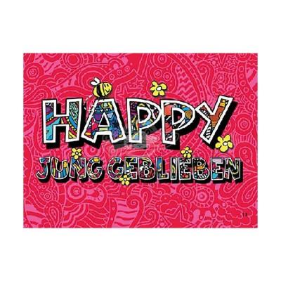 """3D Postkarte """"Happy Jung geblieben"""""""