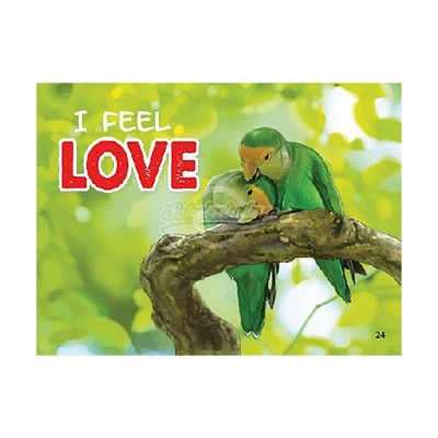 "3D Postkarte ""I feel LOVE"""