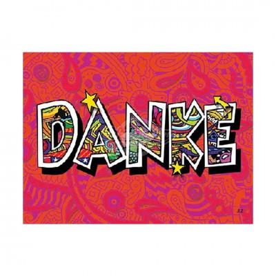 "3D Postkarte ""DANKE"""
