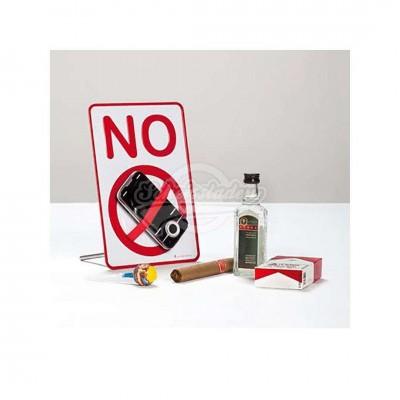"""Schild mit Haltevorrichtung - Verbotsschild """"No"""""""