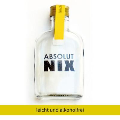"""Absolut Nix Flasche """"Leicht und Alkoholfrei"""""""