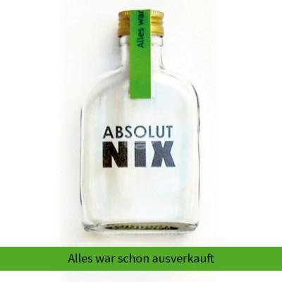 """Absolut Nix Flasche """"Alles war schon ausverkauft"""""""