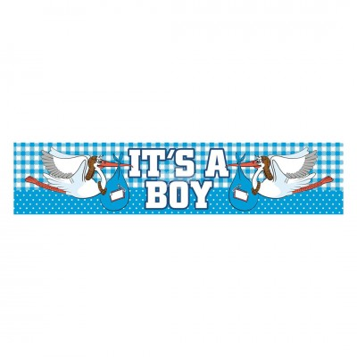 Babyparty Folienbanner - It' s A Boy