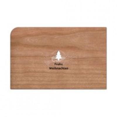 """Grußkarte aus Holz """"Tannenbaum - Frohe Weihnachten"""" mit Umschlag - von Holzpost - scheissladen.com"""
