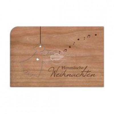 "Grußkarte aus Holz ""Anhänger Christkind"" mit Umschlag"