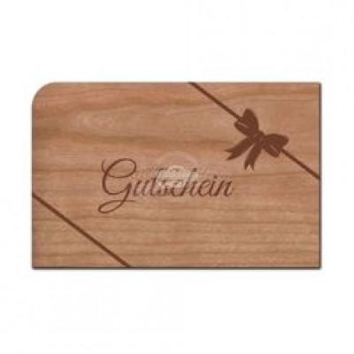 """Grußkarte aus Holz """"Gutschein"""" mit Umschlag"""