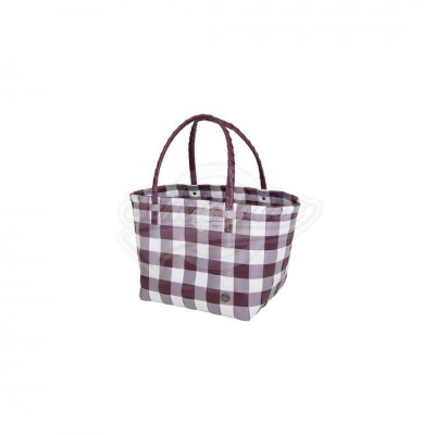 "Handed by - Tasche Shopper ""Paris"" Marsala red Mix - S"
