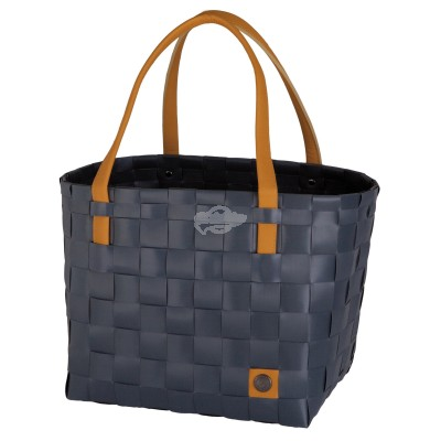 "Handed by - Tasche Shopper ""Color Block"" dark Grey - S"