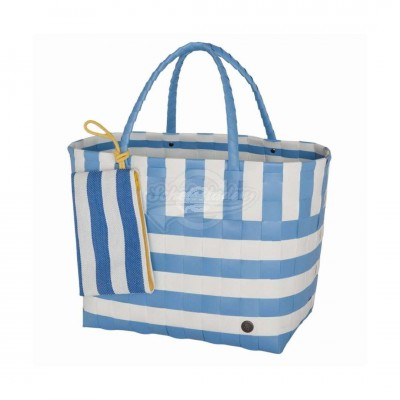 "Handed by - Tasche Strandtasche ""Breeze"" dusk blue - L 2tlg Set"