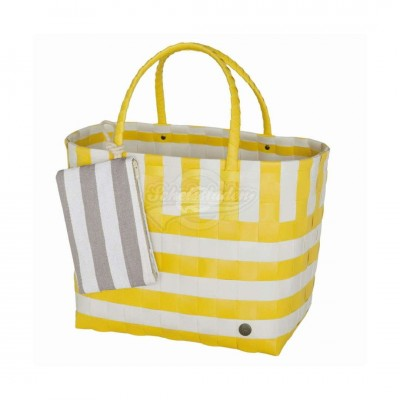 "Handed by - Tasche Strandtasche ""Breeze"" sunshine - L 2tlg Set"