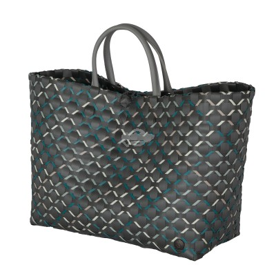 "Handed by - Tasche Shopper ""Glamour"" dark grey - L"