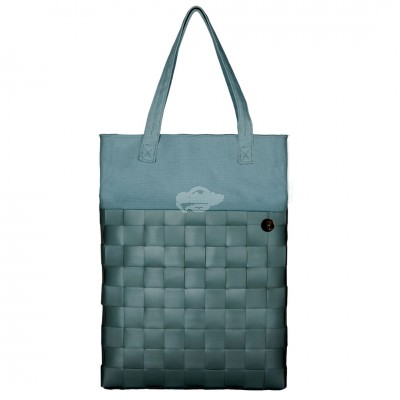 "Handed by - Tasche Shopper ""Urban - fat strap"" greyish green - S"