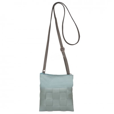 "Handed by - Tasche Umhängetasche ""Festival - Shoulder bag fat strap greyish green"" XXS"
