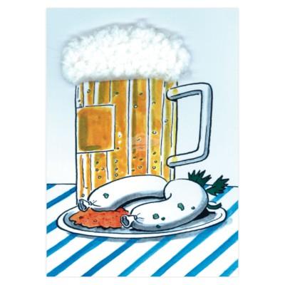 "Plüsch Postkarte Bayern Oktoberfest – ""Brotzeit"""