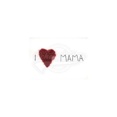 """Plüsch Postkarte Muttertag Mutti – """"I love Mama"""""""