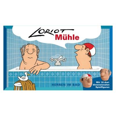 """Gesellschaftsspiel Loriot Mühle - """"Herren im Bad"""""""