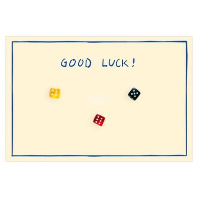 """Geschenkkarte """"Viel Glück"""" mit kleinen Würfeln"""