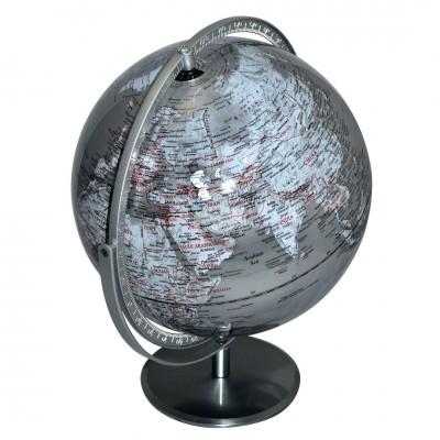 Globus 40 cm - silber - von Invotis - scheissladen.com
