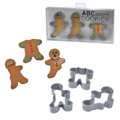 "3er Set Ausstecher Pfefferkuchenmann ""ABC Cookies"""