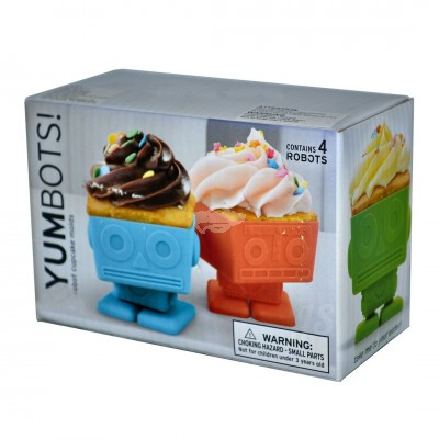 "Muffin-Backform Cupcake ""Yum Bots"" 4er-Set"