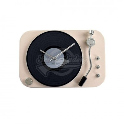 "Wanduhr ""Turntable"" - beige"