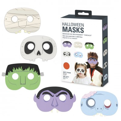 Partymasken - Monster, 5tlg