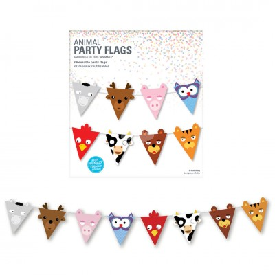 "Wimpelkette Tiere ""Party Flag Animals"" - 180 cm"