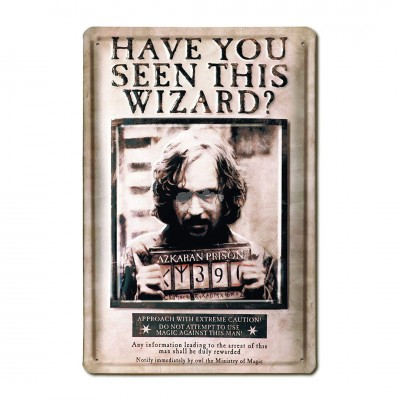 Zauberer - Blechschild - Sirius Black - Have You Seen This Wizard