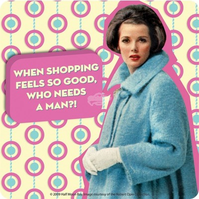 "Untersetzer ""When shopping feels so good"" - 50s"