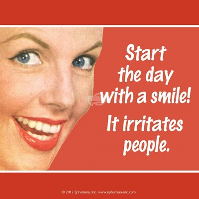 "Untersetzer ""Start the day wtih a smile"" - 50s"