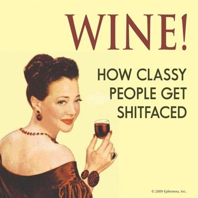 """Untersetzer """"Wine"""" - 50s"""