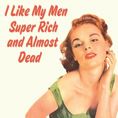 "Untersetzer ""I like my men super rich"" - 50s"