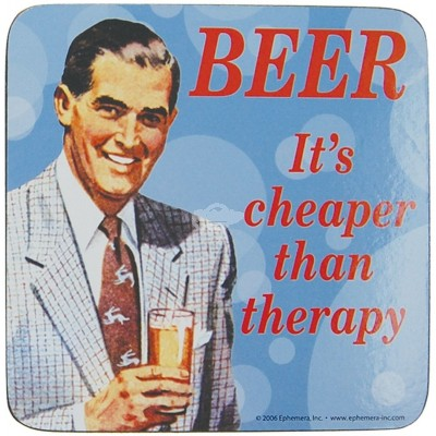 "Untersetzer ""Beer is cheaper"" - 50s"