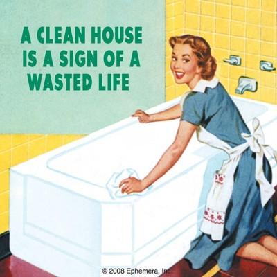 "Untersetzer ""A clean House"" - 50s"
