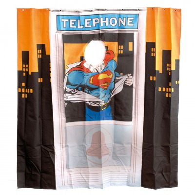 Duschvorhang Superman - Telephone Box