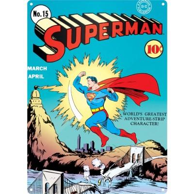 """Metallschild """"Superman"""" - Heft No. 15"""