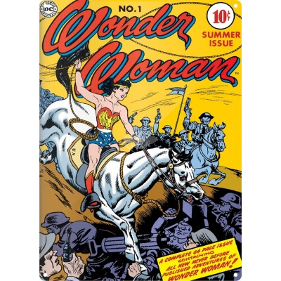 """Metallschild """"Wonder Woman"""" - Lasso"""