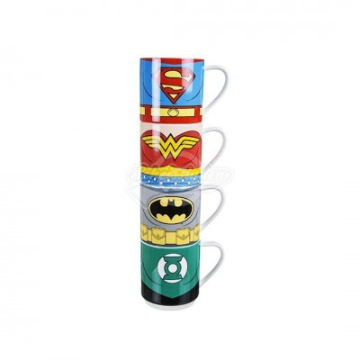 "Kaffeebecher ""Justice League"" 4tlg Set"