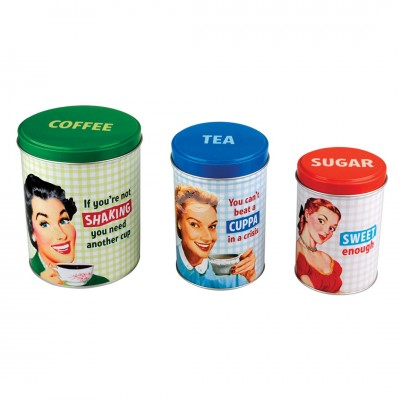 3er Set Retro Vorratsdosen - Housewife