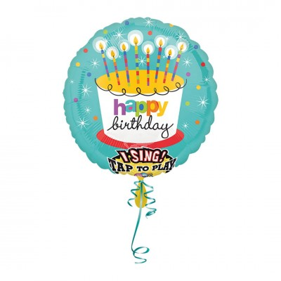 "Folienballon ""Happy Birthday"" Musikballon 
