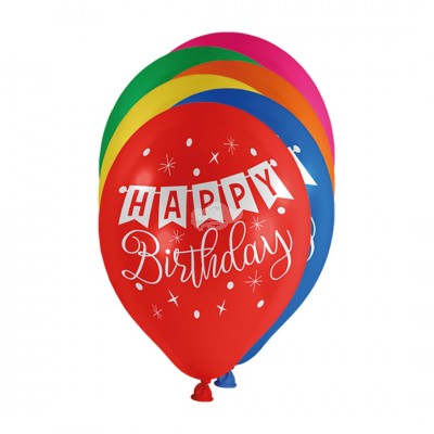 "Luftballons ""Happy Birthday"" Bunt 100 Stück"